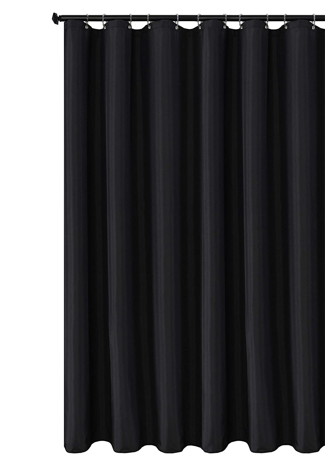 Biscaynebay Fabric Shower Curtain Liners Water Resistant Bathroom Curtain Liner 72 by 72 Inches Black