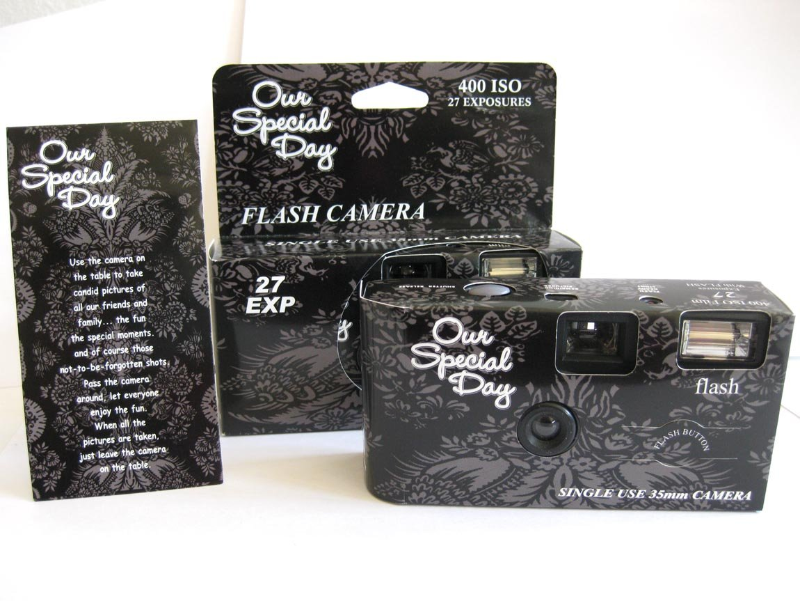 Amazon 10 Pack Black Lace Wedding Party Disposable Cameras
