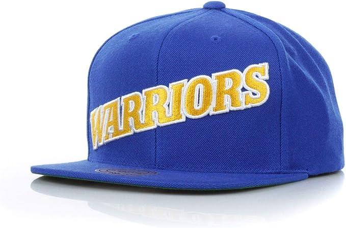 Mitchell & Ness Gorras Golden State Warrior Wool Solid Blue/Yellow ...