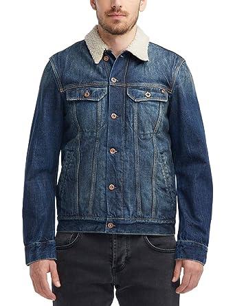 zu Füßen bei großer Lagerverkauf beste Seite Mustang Herren Slim Fit Shearling-Jeansjacke Jeans: Amazon ...
