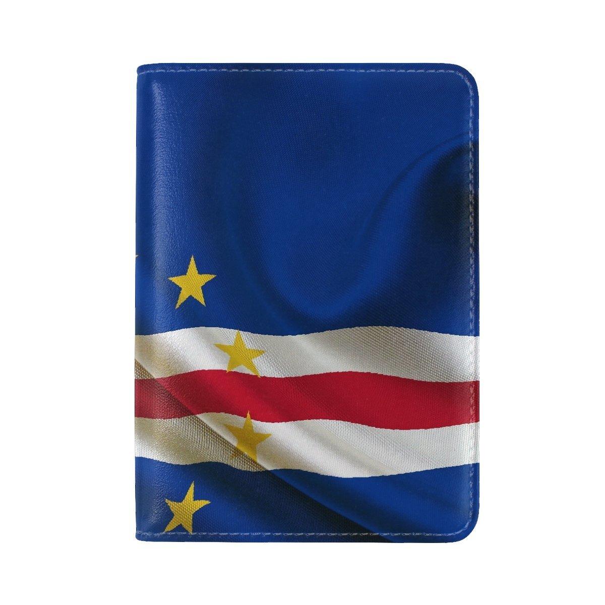 National Flag Republic Cape Verde Leather Passport Holder Cover Case Travel One Pocket