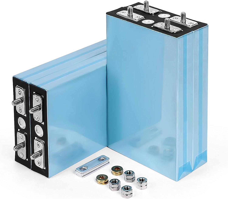 LeiQuanQuan 10PCS 3.2V 100Ah LiFePO4 Batería DIY Células de fosfato de Hierro y Litio 12V 24V 48V Baterías para Solar RV Storge EV Pack EU US Tax Free