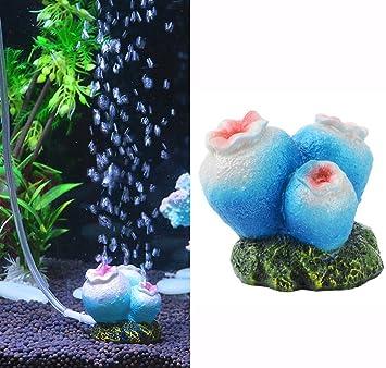 Bomba de oxígeno Efanr decorativa, adornos de resina que hacen burbujas para acuario con conexión a la bomba de aire: Amazon.es: Productos para mascotas