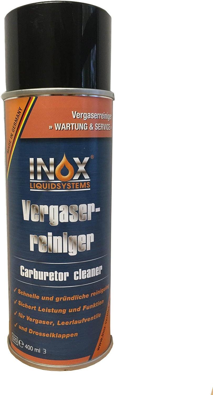 Limpiador de carburador Inox en pulverizador, 400 ml - Para carburadores, válvulas de ralentí y válvulas de mariposa