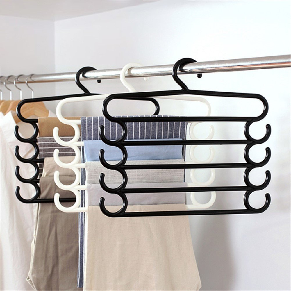 five-layer pants hanger closet storage solution
