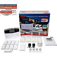 Multi Kon Trade M2B GSM Funk Alarmanlage mit LCD Display – umfangreiches Alarmanlagen Komplett-Set mit Bewegungsmelder, Tür- & Fensterkontakten, erweiterbares Alarmsystem mit Fernsteuerung