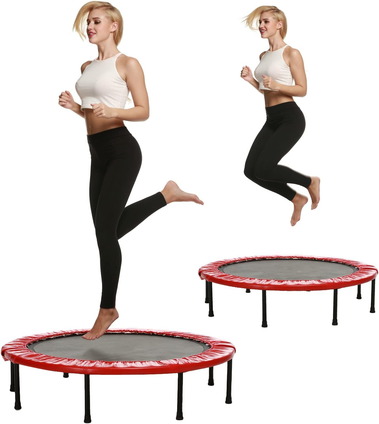 ANCHEER Trampolin Fitness Plegable Mini Cama Elástica 38