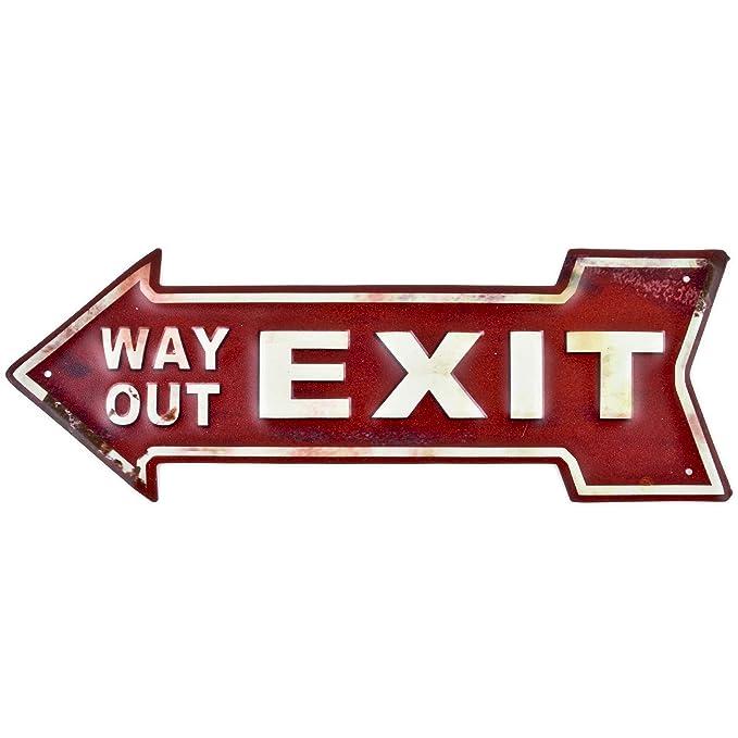 Dadeldo Living & Lifestyle Cartel de Chapa Flecha Exit Way ...