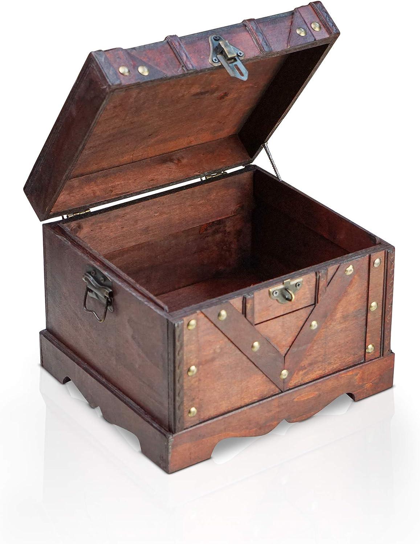 Brynnberg Caja de Madera Vitec 24x21x18cm - Cofre del Tesoro ...