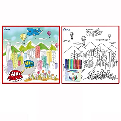 Buy Large Washable Kids Coloring Play Mat With Bustling