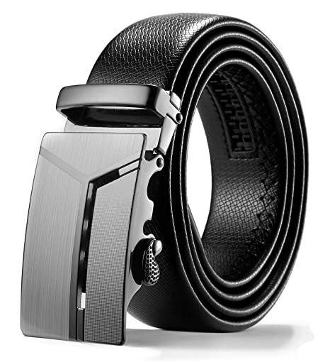 f96b5ffc6eb39 ITIEZY Leather Belt for Men Ratchet Automatic Sliding Buckle 35mm Wide   Amazon.ca  Luggage   Bags