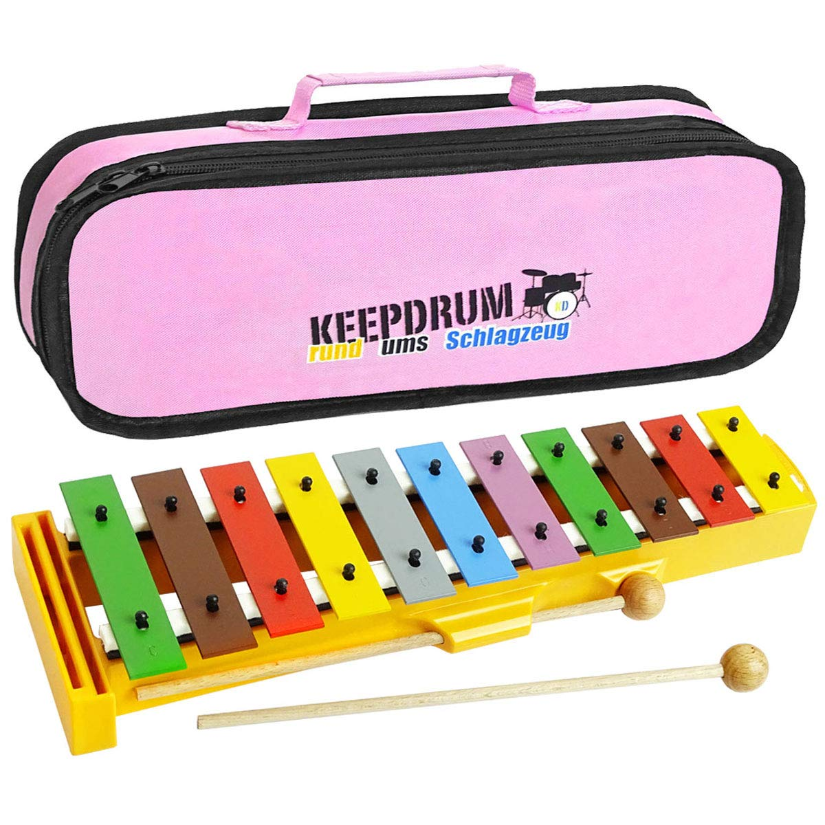 Sonor GS Xylophon Kinder Glockenspiel keepdrum Tasche Pink