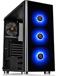Thermaltake V200 Tempered Glass RGB Edition 12V MB Sync Capable ATX Mid-Tower Chassis with 3 120mm 12V RGB Fan + 1 Black...