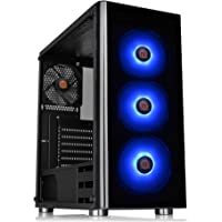 Thermaltake CA-1K8-00M1WN-01 V200 Tempered Glass RGB Edition Sync Capable MidTower Chassis, ATX,Black