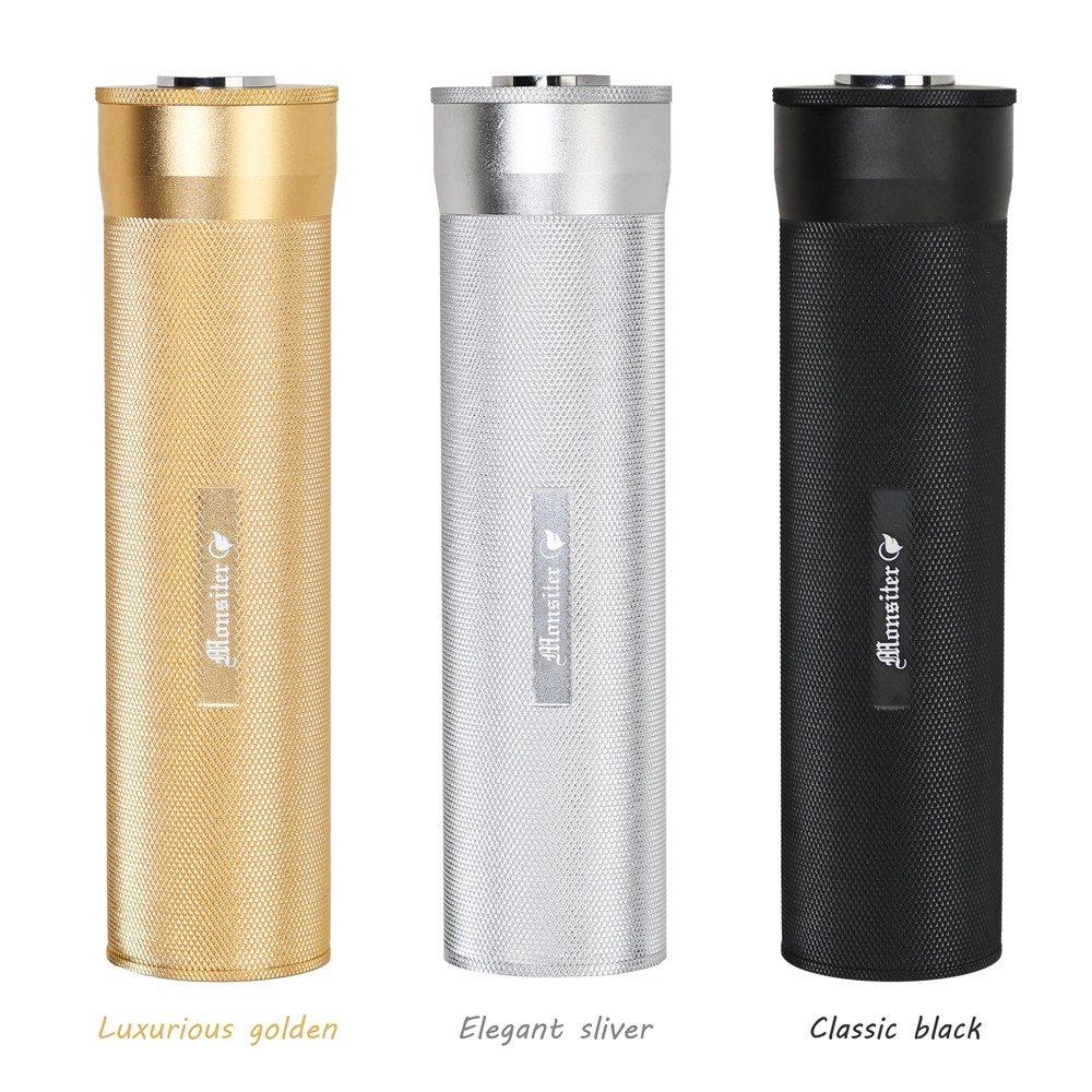 Monsiter Humidificateur Portable pour Tube de Cigare avec humidificateur Housse de Voyage portative pour 3-5 cigares-Noir