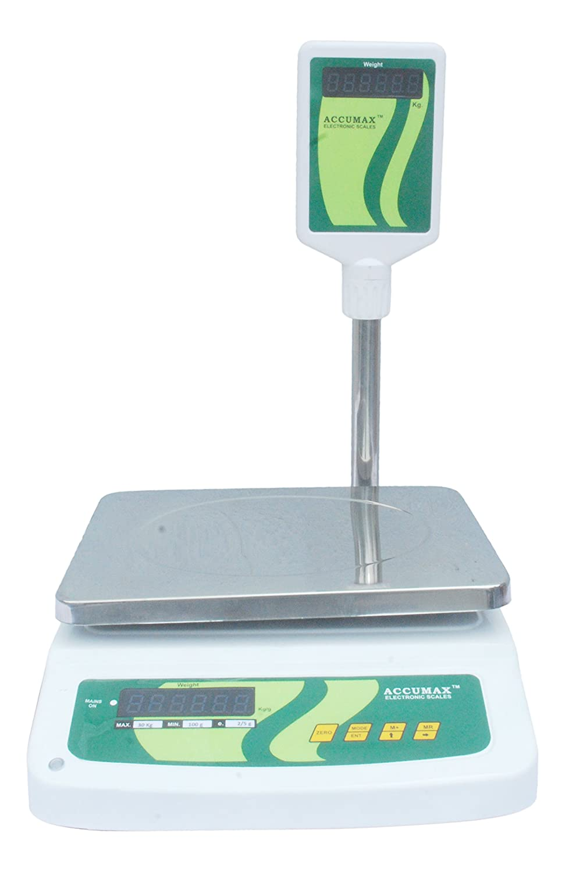 Buy Accumax 230-Volt Weighing Machine (White, 30 Kg) Online at Low ...