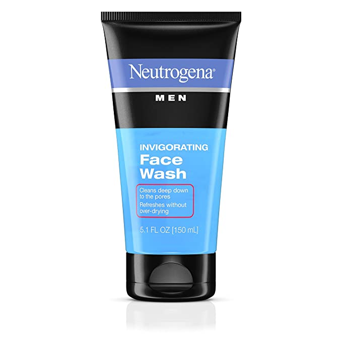 Amazon Com Neutrogena Men S Invigorating Daily Foaming Gel Face Wash Energizing Refreshing Oil Free Facial Cleanser For Men 5 1 Fl Oz Facial Cleansing Products Beauty