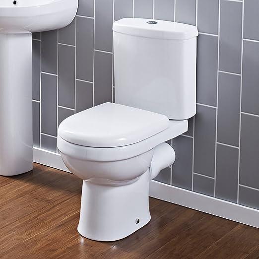 Hudson Reed Pack de WC Completo con Inodoro Cisterna con Salida ...
