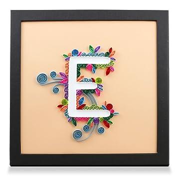 Amazon.com: PaperTalk LETTER E 100% Handmade Paper-Quilling Artwork ...