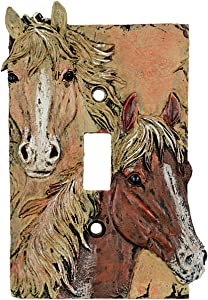 BLACK FOREST DECOR Sunrise Horses Single Switch Cover