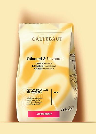 Callebaut pepitas de Chocolate de Fresa (strawberry callets) 2.5kg