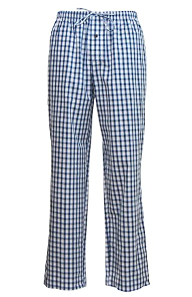 Jockey Mens USA Originals Checked Cotton Pajama Pants (S) Navy Check