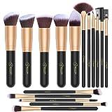 BESTOPE Makeup Brushes 16 PCs Makeup Brush Set Premium Synthetic Foundation Brush Blending Face Powder Blush Concealers Eye Shadows Make Up Brushes Kit