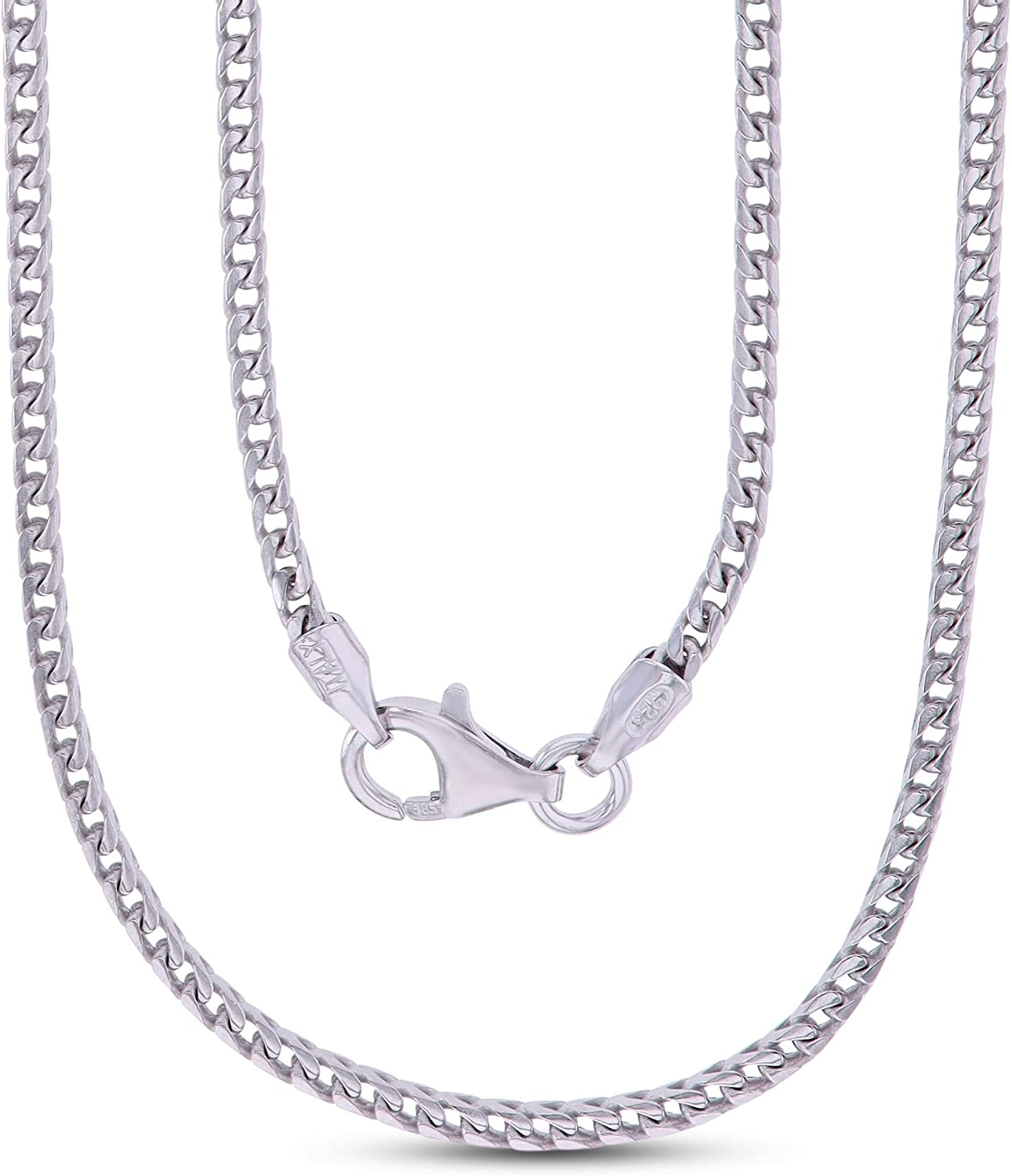 14K Gold Inexpensive or Rhodium Super special price Plated Sterling Chain Franco Men For Silver