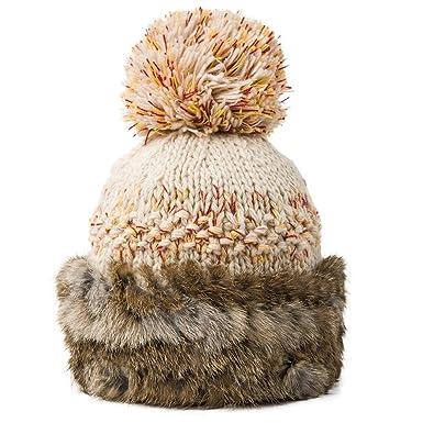 e3996c406 Surprising Day Women Knitted Wool Skullies Warm Beanie Hat girl Cap ...