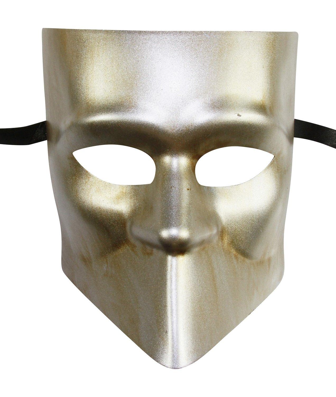 KAYSO INC Men's Vintage Bauta Masquerade Mask (Vintage Silver)