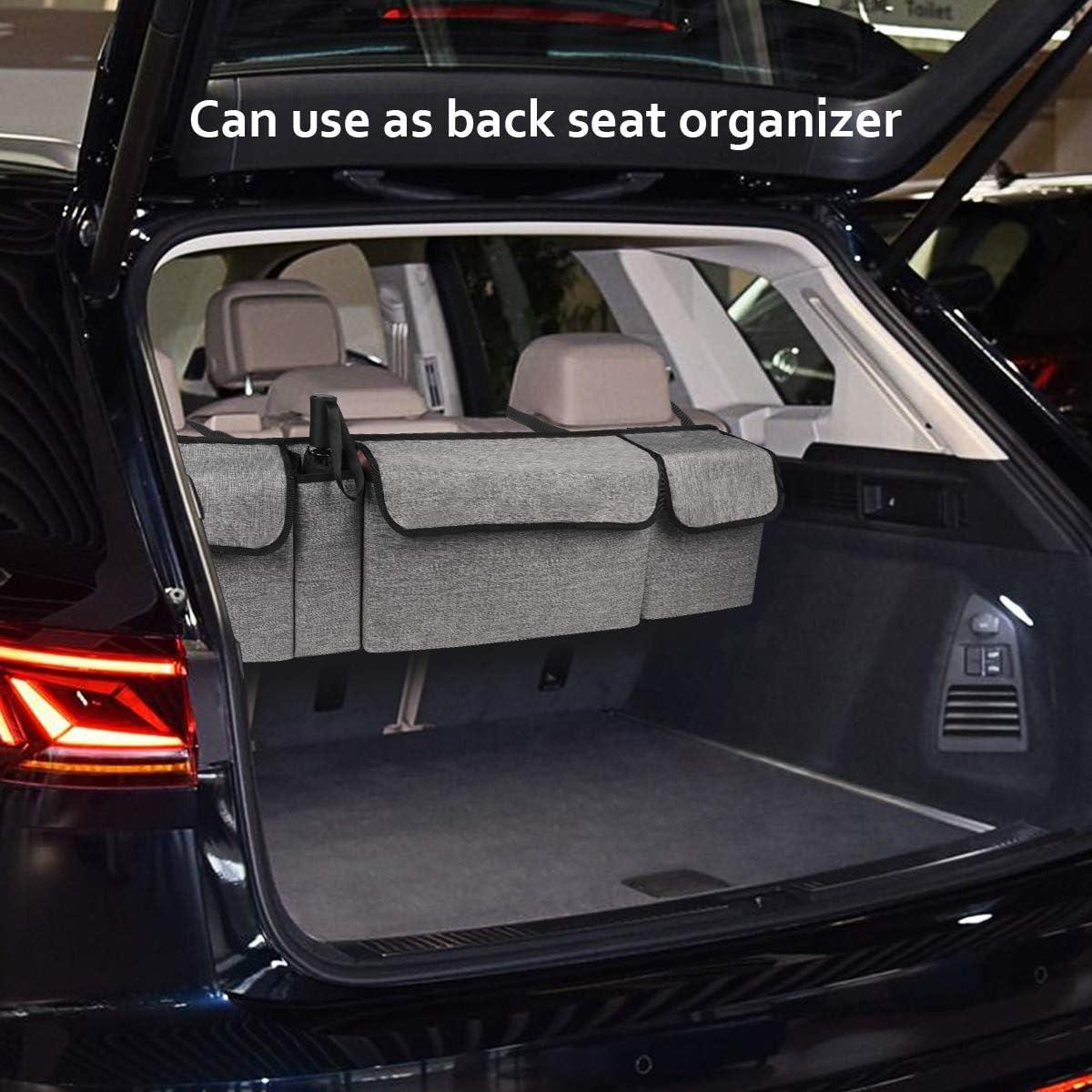 Youdenova Kofferraum Organizer Mit Großen Taschen Für Suv Und Viele Fahrzeuge Bieten Mehr Stauraum Und Freien Kofferraum Baumarkt