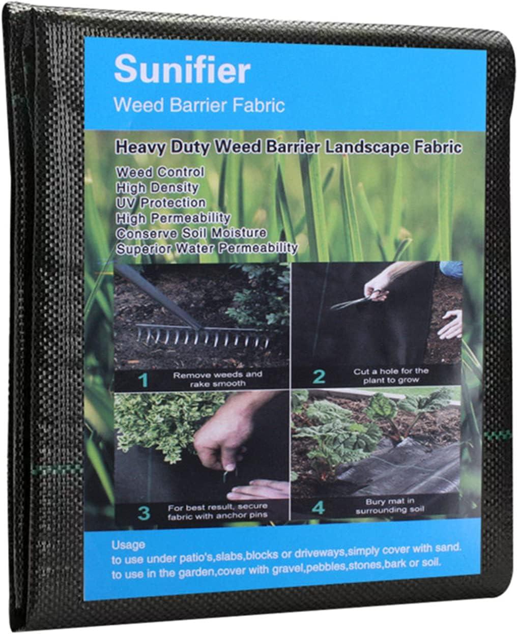 Weed Barrier Landscape Fabric Heavy Duty,Garden Fabric Weed Barrier,Black Mulch for Landscaping, Weed Blocker Fabric Garden Bed Cover Garden Supplies (5ft x 60ft)
