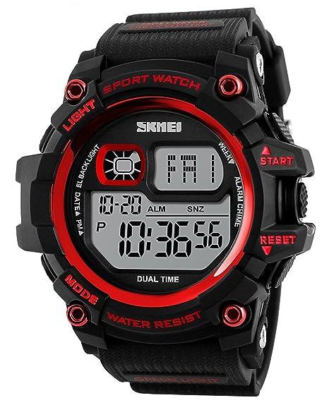 Para la práctica de deportes relojes buceo 50 m resistente al agua Digital LED militares cronógrafo alarma electrónica de Casual relojes de pulsera: skmei: ...