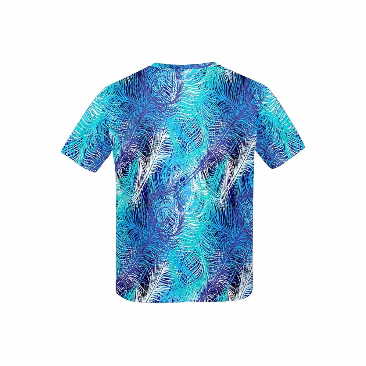 XS-XL INTERESTPRINT Kids T-Shirts Colorful Peacock Feathers