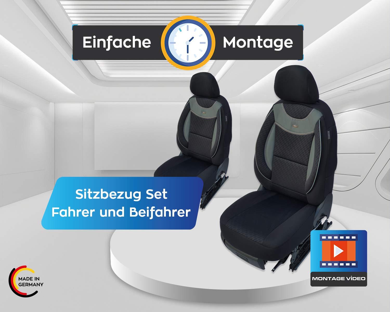 Maß Sitzbezüge Kompatibel Mit Vw Passat B8 Fahrer Beifahrer Ab 2014 2018 Farbnummer G101 Baby