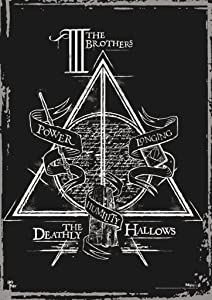 "MightyPrint Harry Potter – Deathly Hallows – The Three Brothers – Durable 17"" x 24"" Wall Art – NOT Made of Paper – Officially Licensed Collectible"