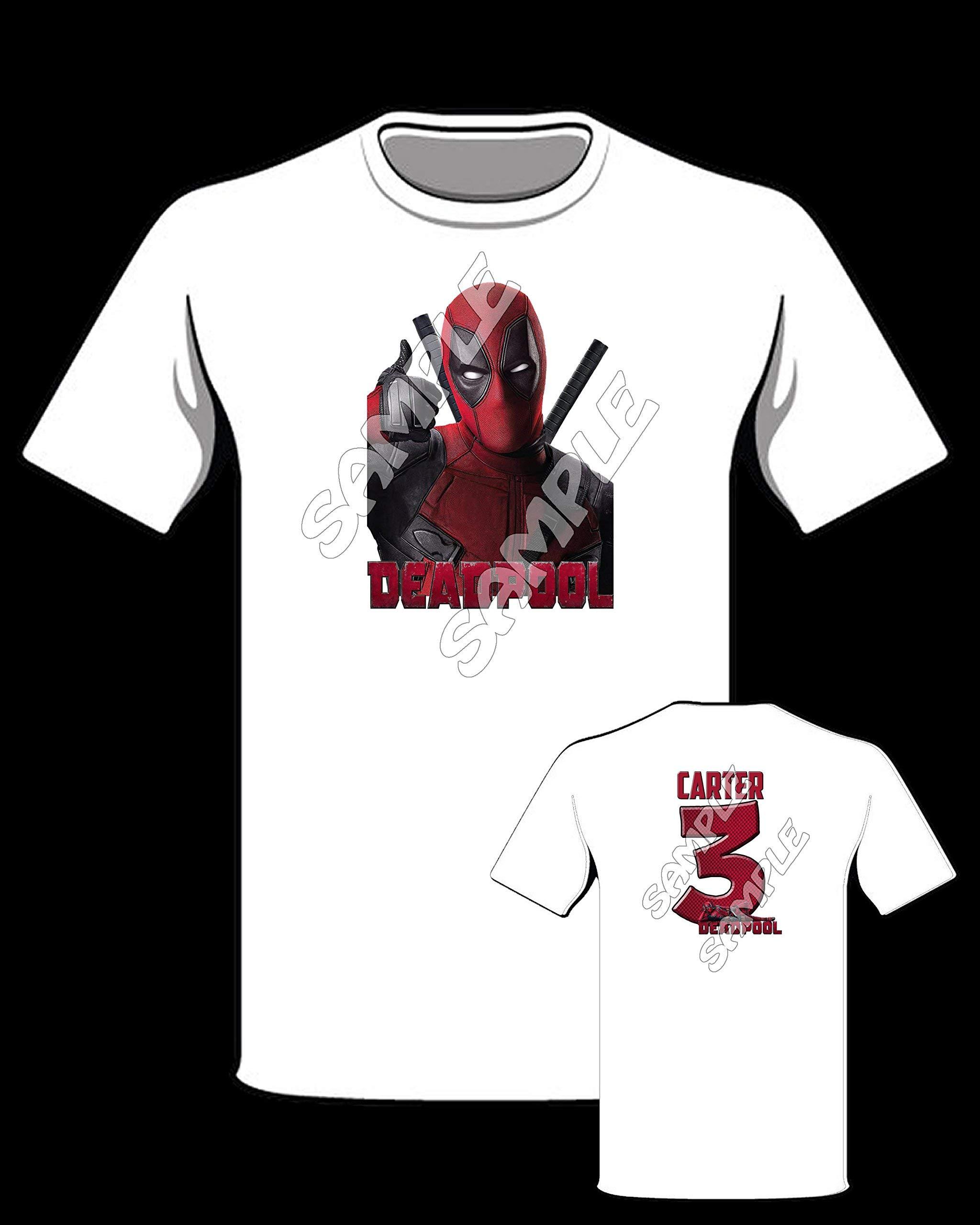 Deadpool Sheet of 12 stickers, Deadpool cupcake topper #1 ...