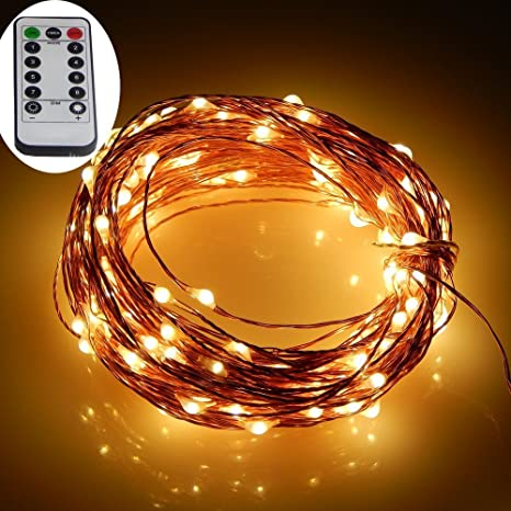 Micro Led String Lights Enchanting Amazon Dreamworth Remote Battery Operated Micro LED String