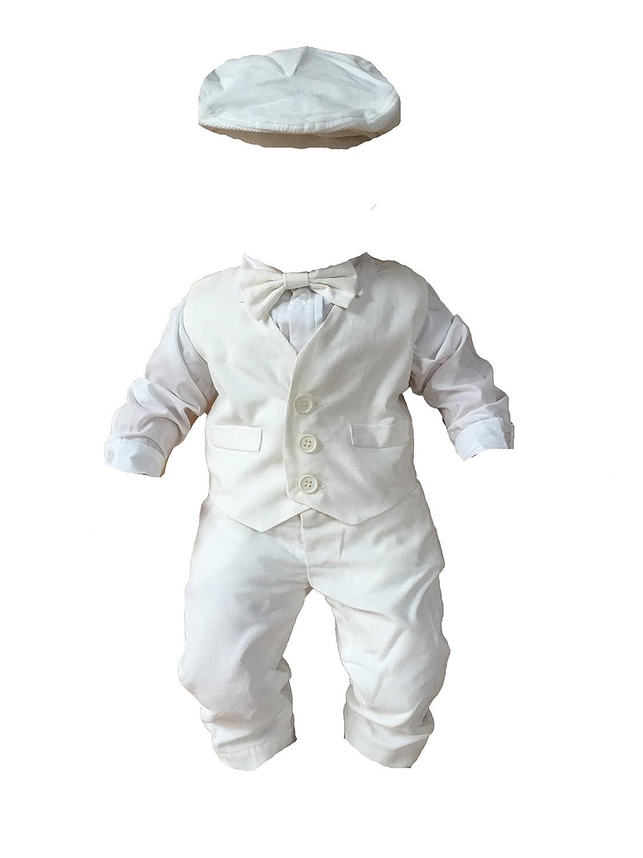 Sixforkids Baby Boys' Christening Gown white White