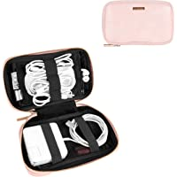 Comfyable Power Cord Holder Bag, Electronics Travel Organizer Case, Charger Cord Organizer, Electrical Cord Storage, Cable Wire Pouch (Pink)