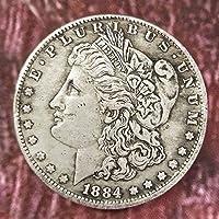 YunBest Morgan Silver Dolls-1884 Old Coin Collecting-Silver Dollar USA Old Original Pre Morgan Dollar BestShop