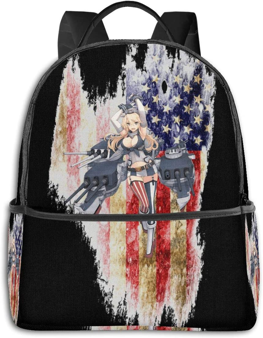 Anime & Kancolle - Iowa Classic Student School Bag School Cycling Leisure Travel Camping Outdoor Backpack