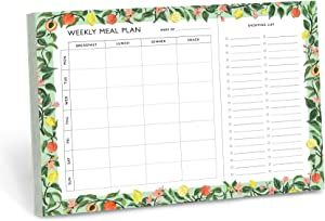Minimalmart Magnetic Meal Planner Notepad - Food Planning Organizer and Grocery List Pad, Premium 52 Pages,