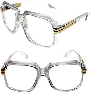 5244a818fa4 Men s Hip Hop 80 s Gazelle Vintage Clear Lens Eye Glasses 607 Grandmaster  Retro 80 s