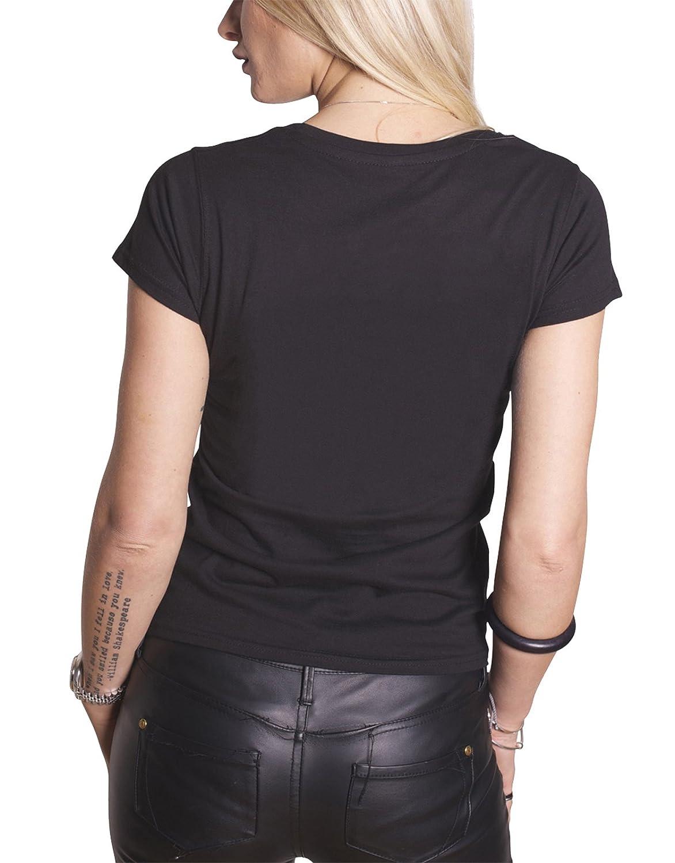 Rolling Stones T Shirt Tour 78 Tongue Nouveau Officiel Femme Skinny Fit