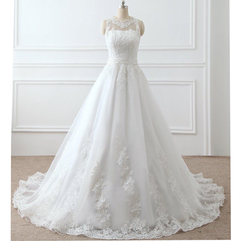 Mingxuerong Vintage Brautkleider Prinzessin Spitzen Tüll Einfache ...