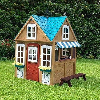 Amazoncom Kidkraft Backyard Wooden Seaside Cottage Outdoor