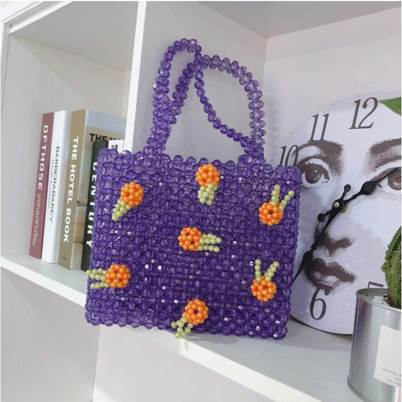 Amazon.com: Bolso de perlas de acrílico con cuentas de bolsa ...