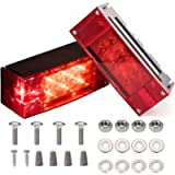 CZC AUTO 2PCS 12V LED Submersible Low Profile Rectangular Trailer Lights, Tail Stop Turn Running Lights Kit, Sealed for…