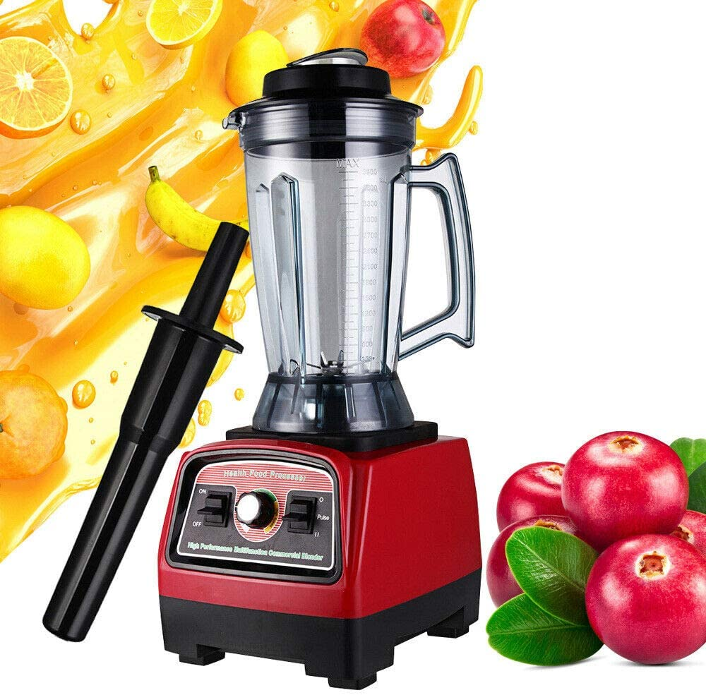 Blender,Power Commerical High-Speed Blender Mixer Juicer Food Smoothies Ice Cream Maker Mixer Commercial Blender Heavy Duty Food Processor 3.9L 2800W 3.3Hp
